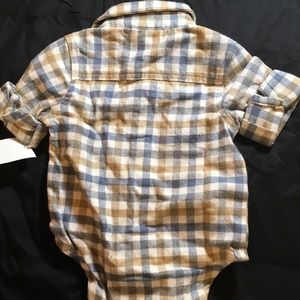 NEW Baby B'gosh  Flannel Bodysuit 6 months